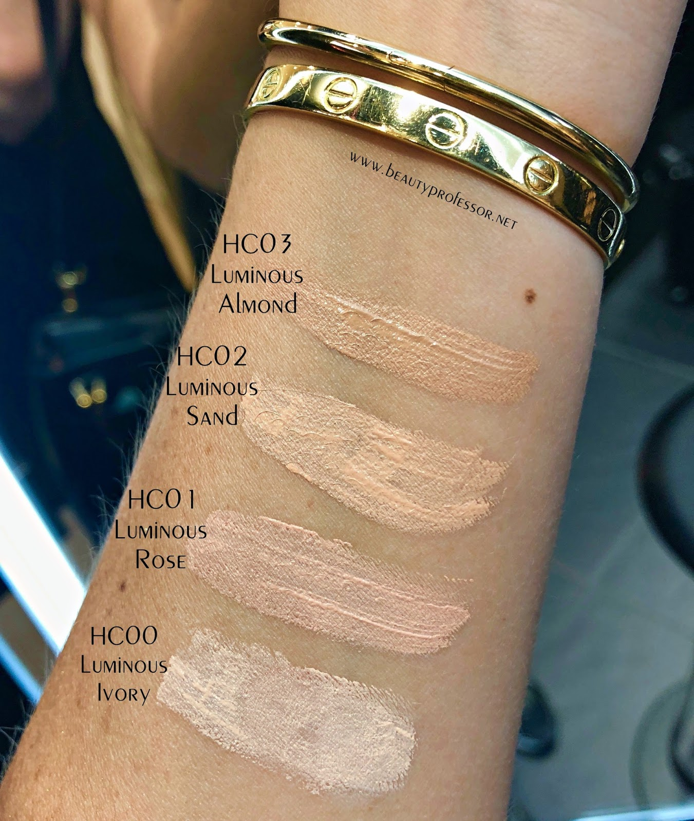 sensai highlighting concealer swatches