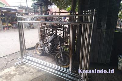 Rangka Hijab Masjid pesanan Bpk Sukoco di Jatibening Bekasi