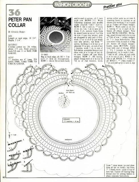 журнал Magic crochet № 67 воротник крючком схема