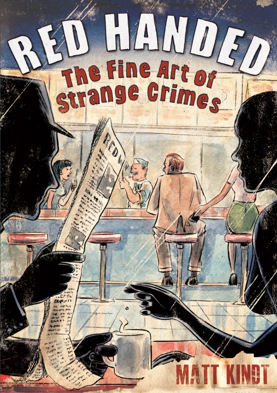 Red Handed: The Fine Art of Strange Crimes book/graphic novel review received 3 out of 5 books.  It's an oddly interesting read,, with a more complex storyline.  However, it was just a feeling of blah after reading it (in less than a day). Alohamora Open a Book http://alohamoraopenabook.blogspot.com/