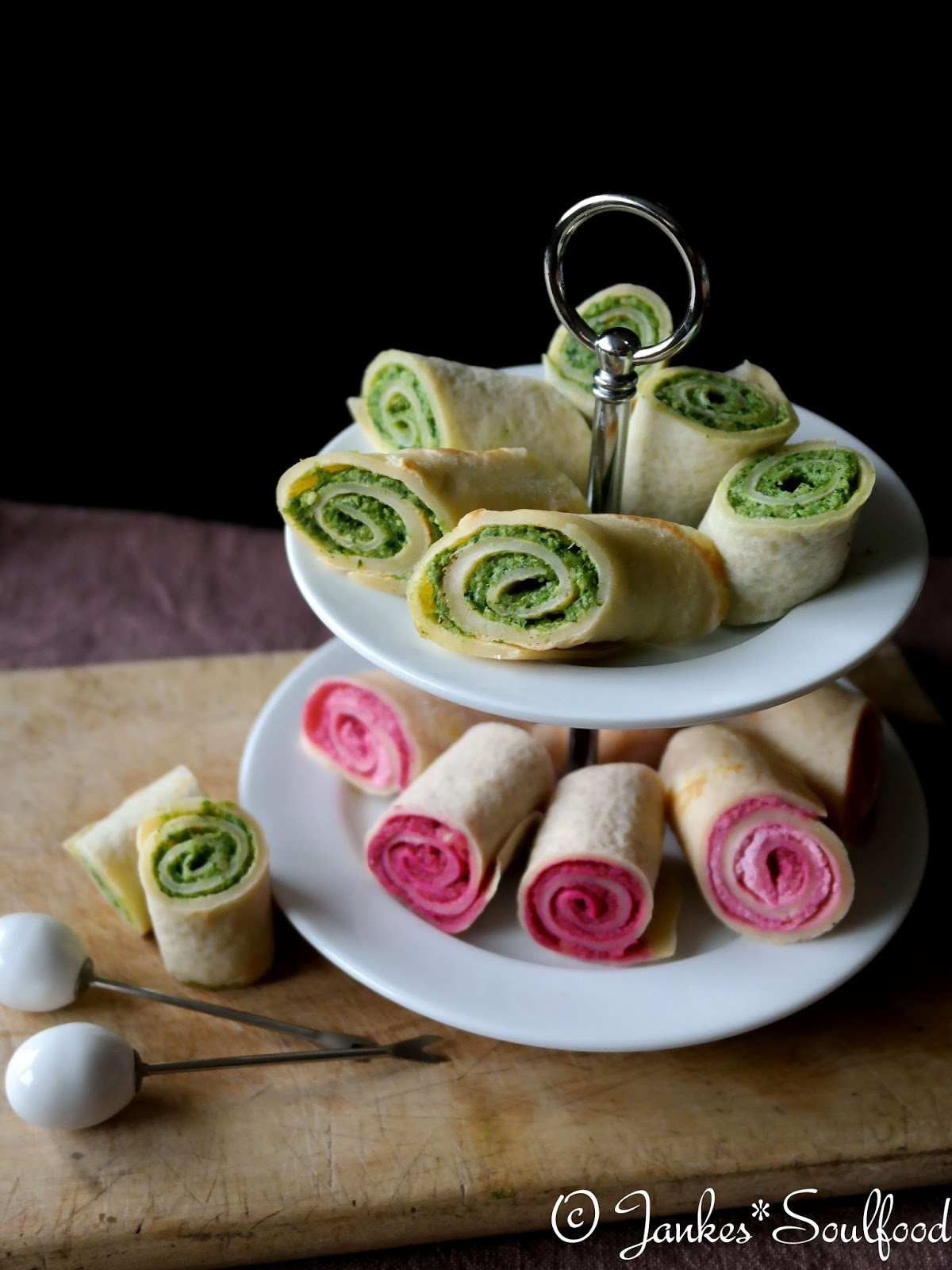 Fingerfood: Pesto-Crepes