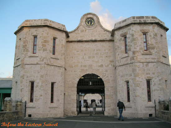 At the front gate of Fremantle Prison, Fremantle City.