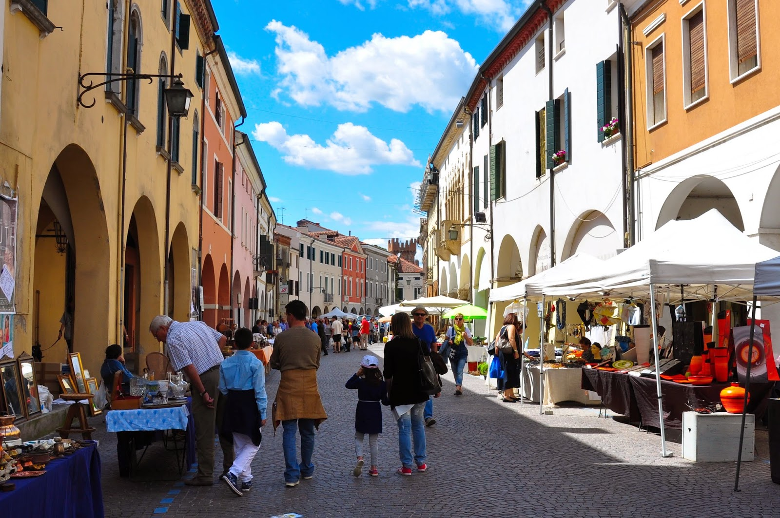 An antiques fair in Montagnana, Veneto, Italy