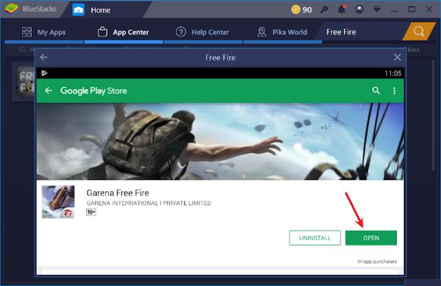 لعبة Free Fire على الكمبيوتر computer