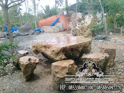 meja taman batu karang
