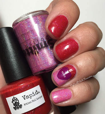 Hella Holo Customs; Vapid Lacquer One Love & Smitten Polish One Heart