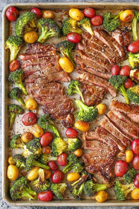 Sheet Pan Steak and Veggies - Beef Recipes