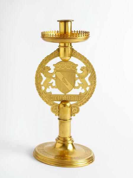 Candlestick, Augustus W.N. Pugin, Hardman & Co, 1848, Birmingham, V&A, London.