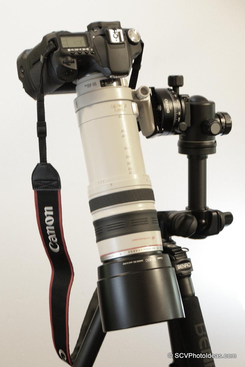 Alternative Gimbal Head w/ Canon EF 100-400 L IS USM & Canon EOS 50D down