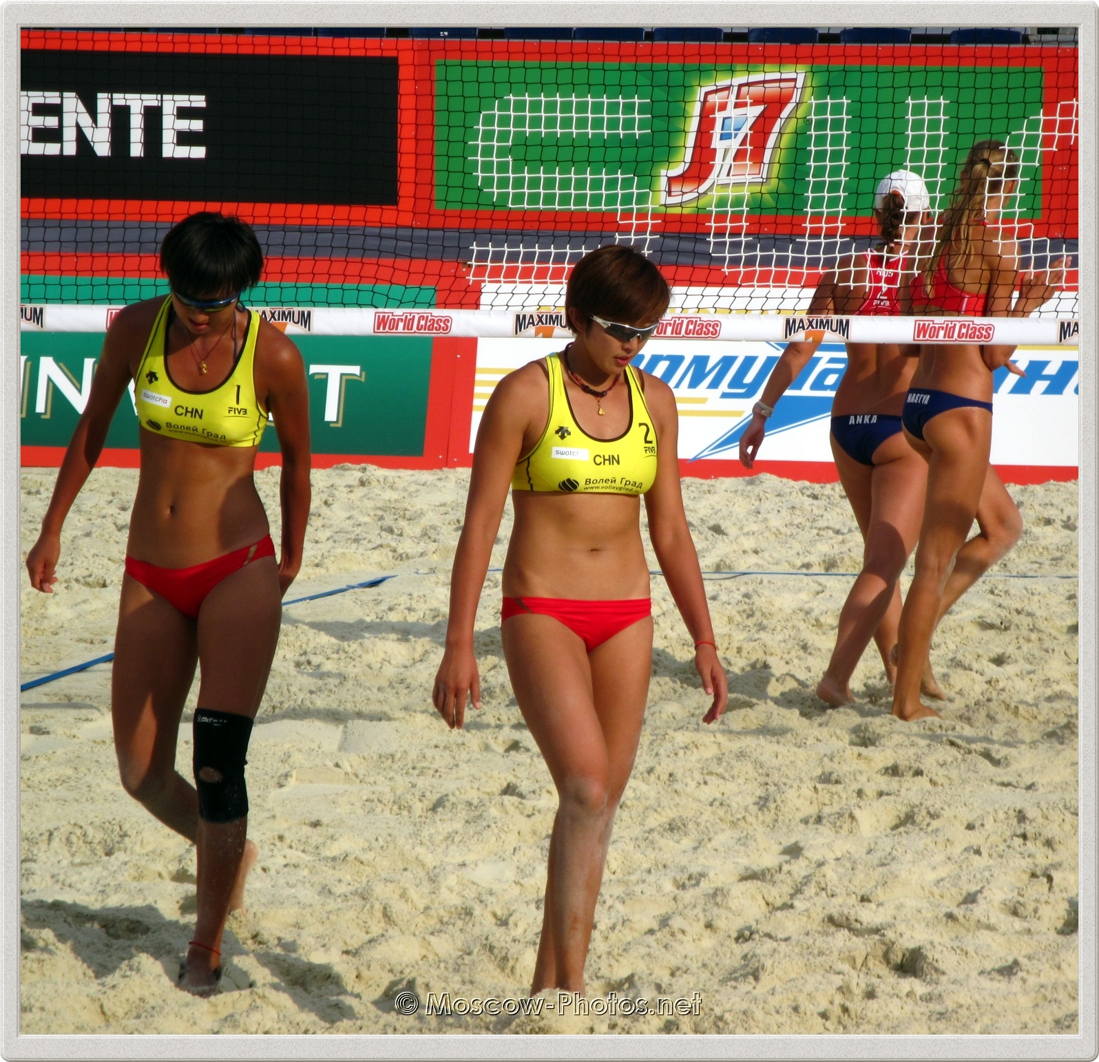 Beach Volleyball Players Ying Huang & Yuan Yue (CHN)