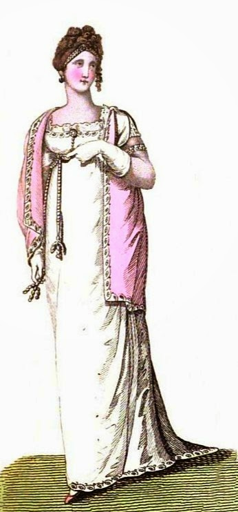 Ball dress  from La Belle Assemblée (1807)