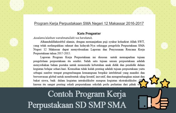 Contoh Program Kerja Perpustakaan SD SMP SMA Format Doc