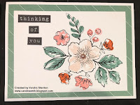 Colour Dare Challenge, retired, Fundamentals, thinking of you, Bunches of Love, flowers, floral, #CTMHVandra, Vandra, Challenge, color dare, TicTacToe, challenge, design team, cardmaking,