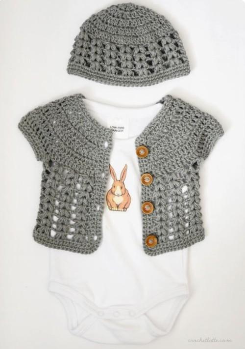 Sweet Baby Cardigan - Free Pattern