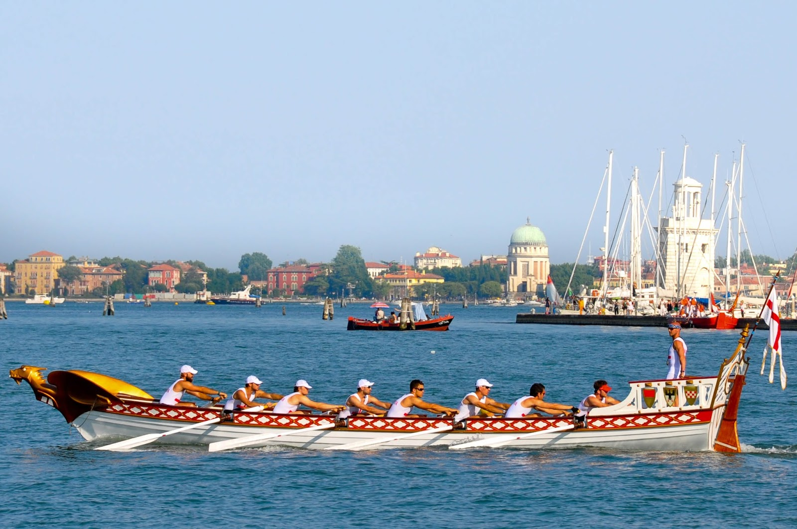 Genua's boat, Regatta of the Ancient Maritime Republics, Venice, Italy