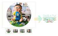 bebe fotbalist figurină pentru tort