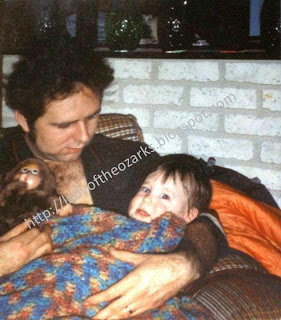 Me with my Daddy at 1 year old and sick with bronchitis