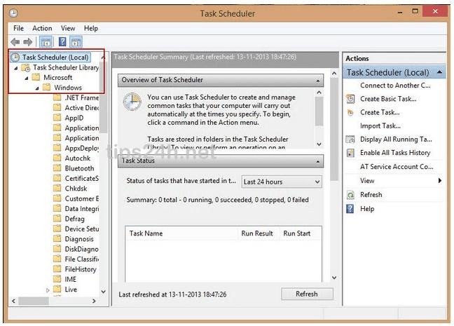 Bật/tắt auto maintenance tự động bảo trì Windows 8.1