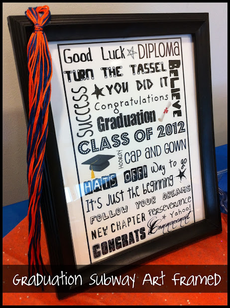 Upcycled Education Graduation Subway Art