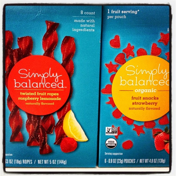 Plant Based Vegan Vegetarian Food Snacks Groceries Healthy at Target Simply Balanced Twisted Fruit Rope and Organic Fruit Snacks
