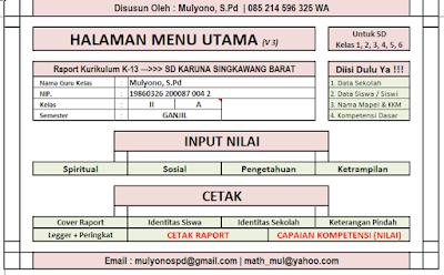 Download Raport KTSP Dan Kurikulum 2013 Lengkap Terbaru