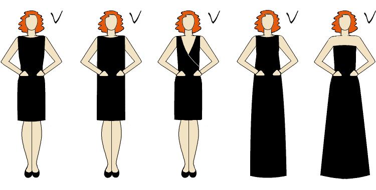 talia podkreślona dobrze dobranym fasonem sukienki