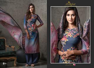 Rvee Gold Zubaa Pashmina Winter Suits wholesale