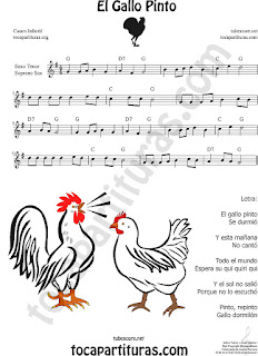 Soprano Sax y Saxo Tenor Partitura de El Gallo Pinto Sheet Music for Soprano Sax and Tenor Saxophone Music Scores