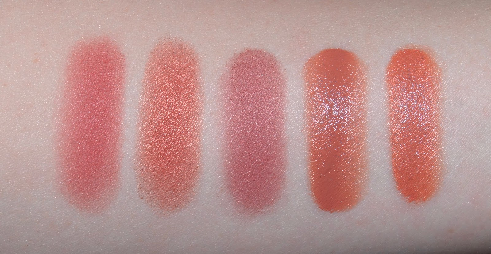 top 5 autumn winter blushes swatches nars oasis mac peachtwist stila camelia shiseido tea rose maxfactor soft copper