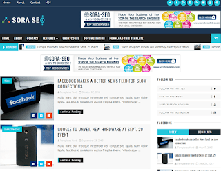 Sora SEO Blogger Template Free Download