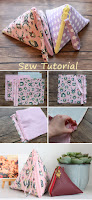 How to sew a pyramid pouch. DIY Sewing Tutorial
