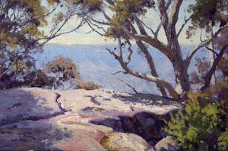 Warwick Fuller painting - Sketch for Cliff Top, Sublime Point