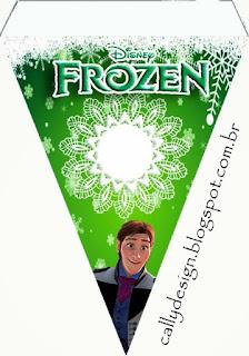 Banderines de Fiesta de Frozen Fever para imprimir gratis.