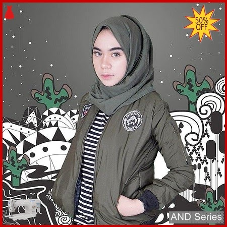 AND438 Jaket Wanita Bomber Patch Army BMGShop