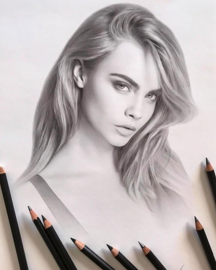 01-Cara-Delevingne-Alena-Litvinova-Realistic-Portraits-www-designstack-co