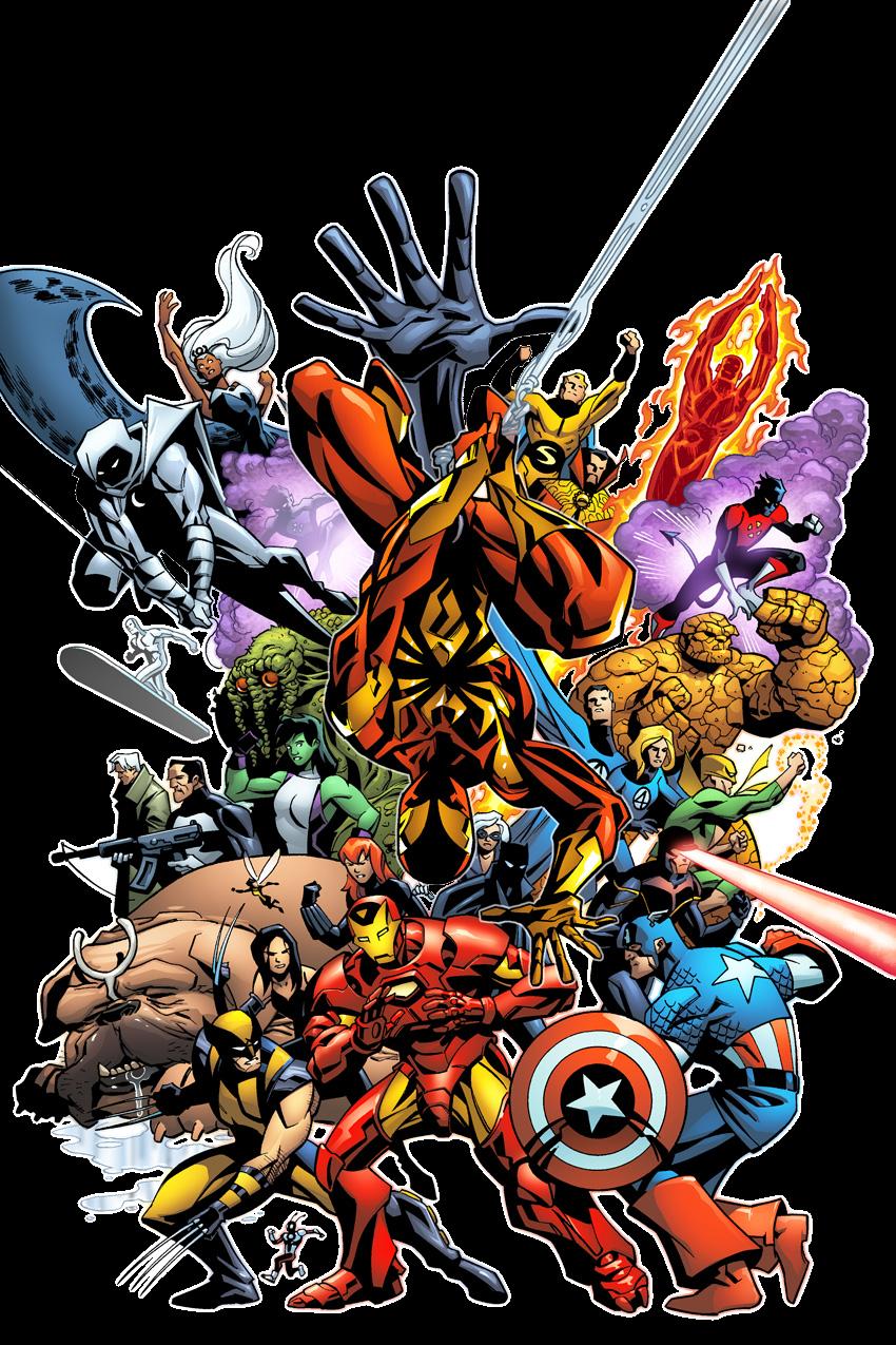 My Heroe Comic the avengers png