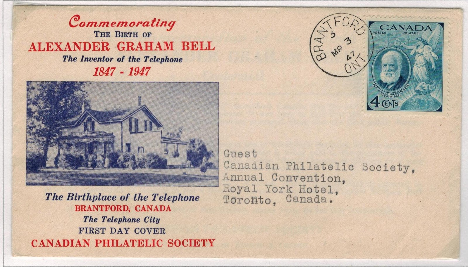 postal history corner 1947 alexander graham bell first day covers