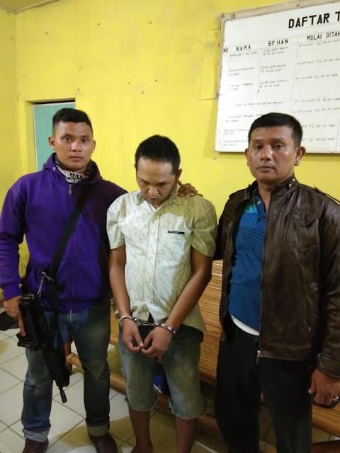 Oky Syafitra Daulay alias Fitra (30) diamankan petugas Polsek Tanjungbalai Selatan Resor Tanjungbalai.
