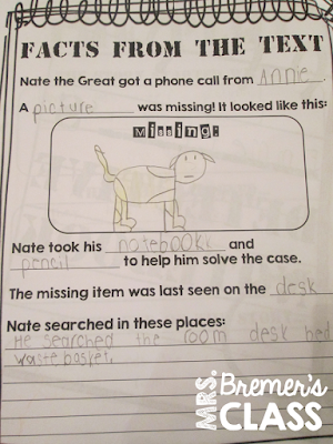 Our class LOVES Nate the Great! Here are some fun Nate the Great book study companion activities to go with the books by Marjorie Weinman Sharmat. Perfect for whole class guided reading, small groups, or individual study packs. Packed with lots of fun literacy ideas and guided reading activities. Common Core aligned. Grades 1-2 #bookstudies #bookstudy #novelstudy #1stgrade #2ndgrade #literacy #guidedreading #natethegreat