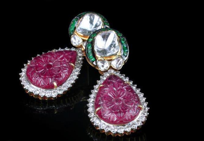 Polki Diamond Earrings 3
