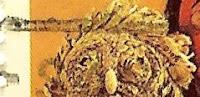 Máscara de casca de milho, data 1976