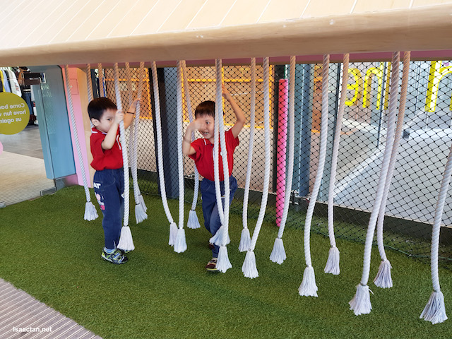 The kids had fun with these handing rope thingy at IPC