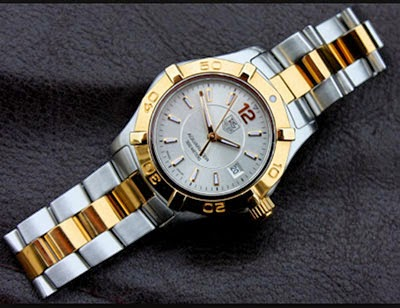7ed21d79bb7 Tag Heuer Aquaracer Two Tone Gold 18K for ladies ref  WAF1420 (SOLD ...