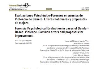Evaluación psicológica forense en violencia de género