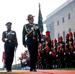 General Bipin Rawat, CoAS, being presented Guard of Honour  at South Block in New Delhi