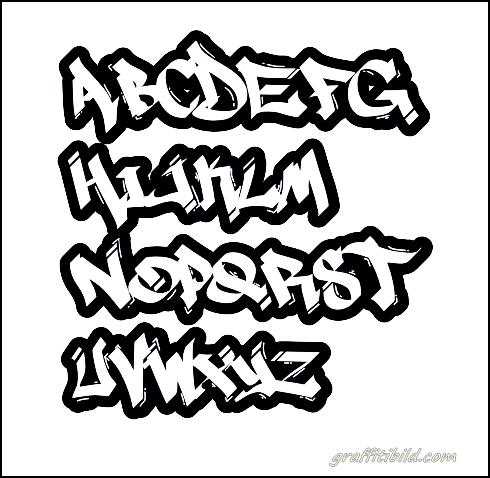 Graffiti ABC letters, graffiti font, alphabet, style