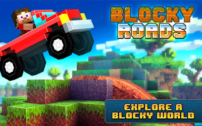 Download Blocky Roads MOD APK + DATA v1.3.3 for Android HACK Full Unlocked Terbaru 2018