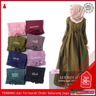 GMS031 KRSRH031G35 Gamis Wings Dress Wolfis Busui Dropship SK0144344417