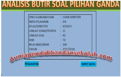 Download Aplikasi Excel Analisis Dan Input Nilai Harian, Pts Dan Pas Simpel Dan Mudah