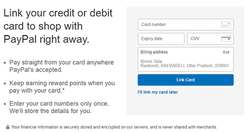 Add Your Debit And Credit Card With PayPal